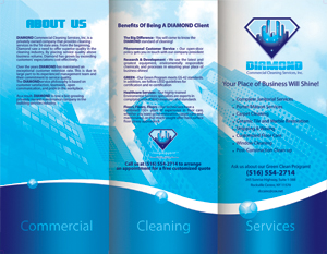 Cleaning and janitorial brochures designed for Commercial cleaning brochure templates