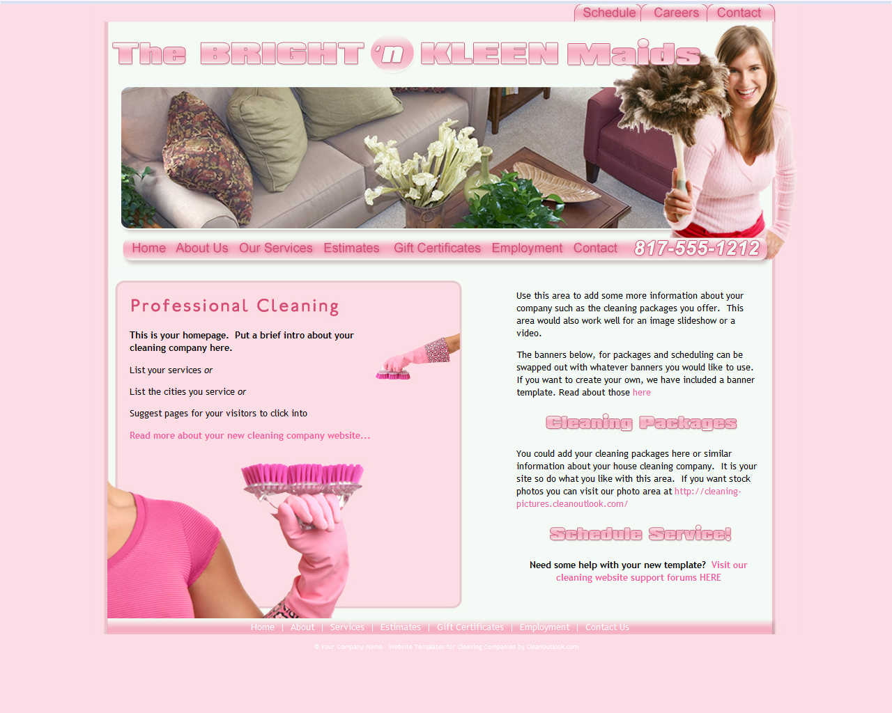 website templates for cleaning companies affordable website designs