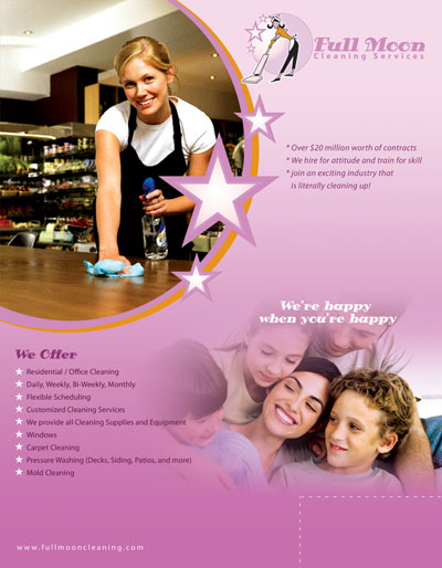 Custom designed for your company---these are NOT flyer templates.