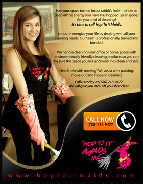 Flyer Design Hop To It Maids House Cleaning Company