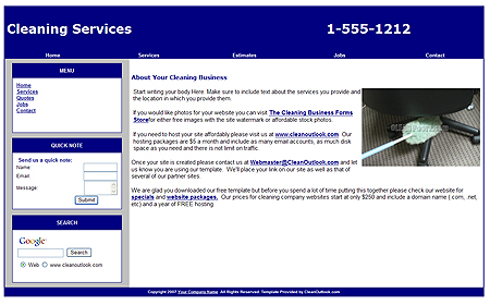 House Cleaning Free Cleaning Quotes Template