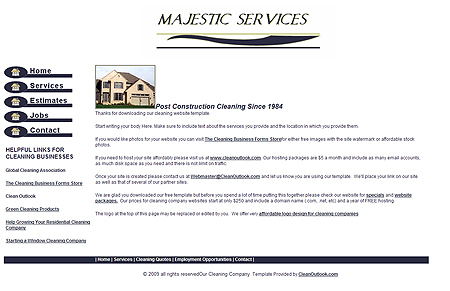 Construction Cleaning Or Foreclosure Cleaning Template