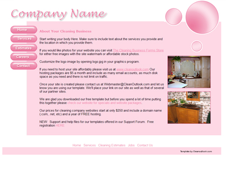 Examples Flyers Residential Cleaning http://www.cleanoutlook.com/freebies/layout6.html