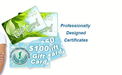 Promote Cleaning Gift Certificate Sales