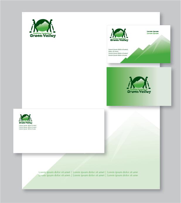 Clean Corporate Letterhead Template: Design Custom Letterhead Stationery