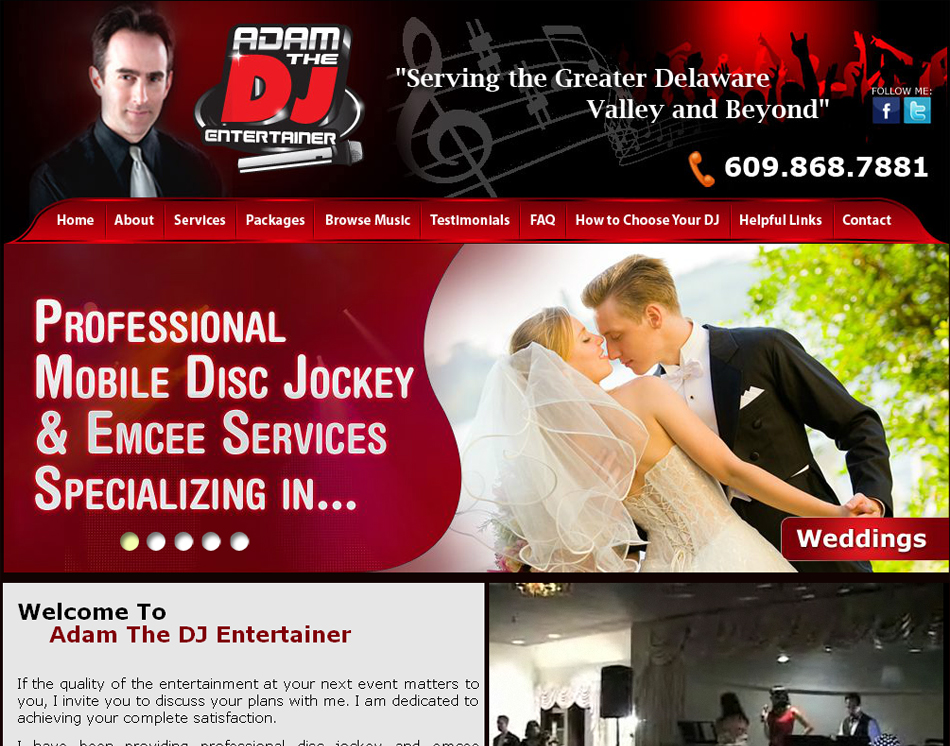 disc jockey website image