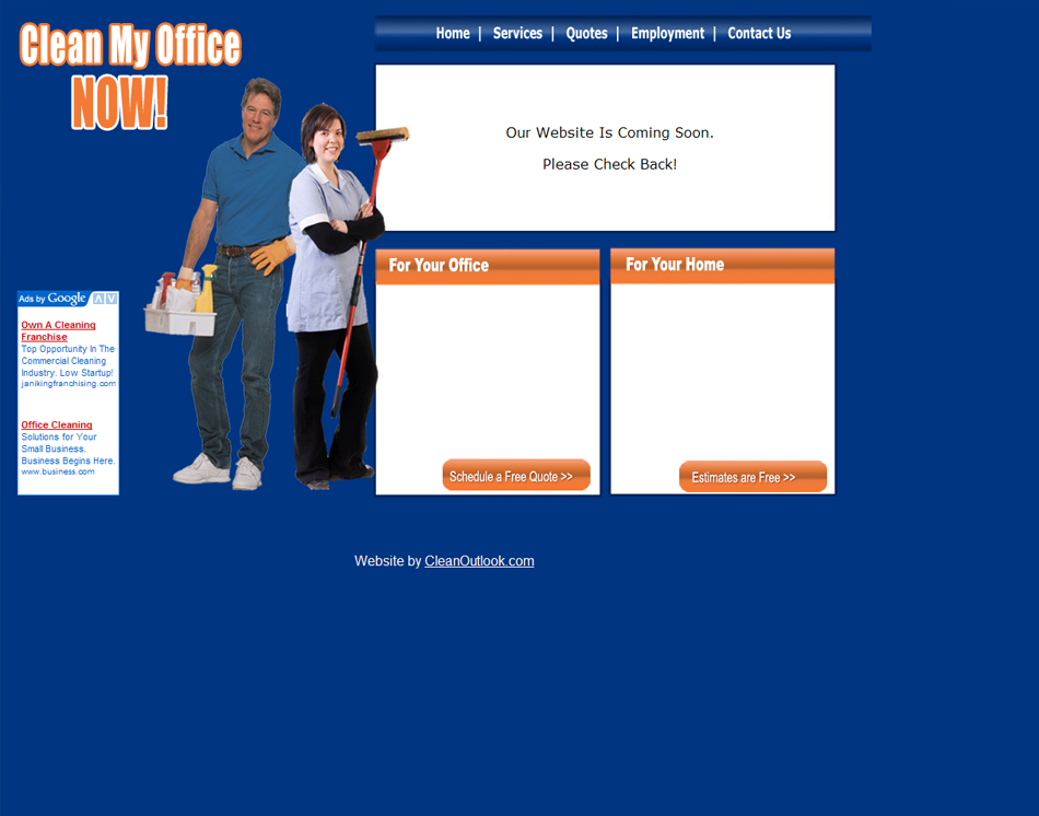 Our Portfolio Of Cleaning And Janitorial Company Website