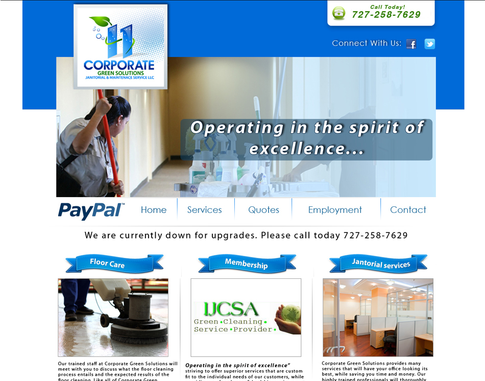 Corporate Green Solutions website designing thumbnail image