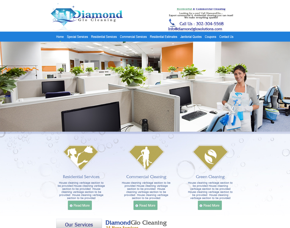 thumbnail image Diamond Cleaning Solutions rwd responsive Website