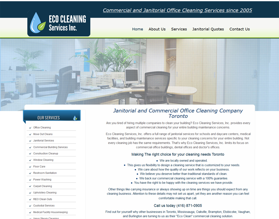 thumbnail image of Eco Cleaning mobile friendly web redesign