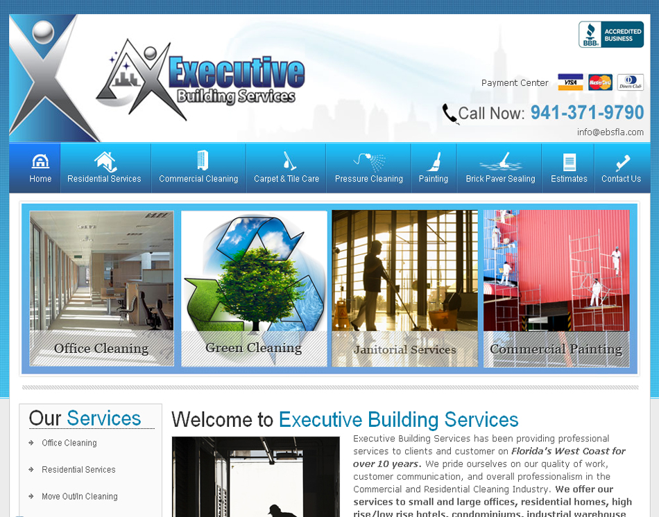 Professional website designer cleaning company website for Building design website