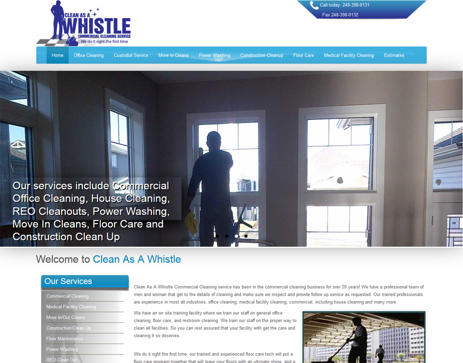 graphic image Clean As A Whistle rwd responsive website design