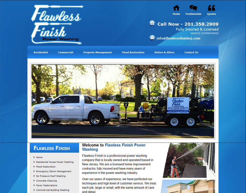 thumbnail image Flawless Finiah Pressure Washing New Jersey company web site design and web hosting