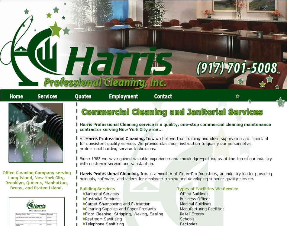 Harris Professional Cleaning, Inc graphic web image
