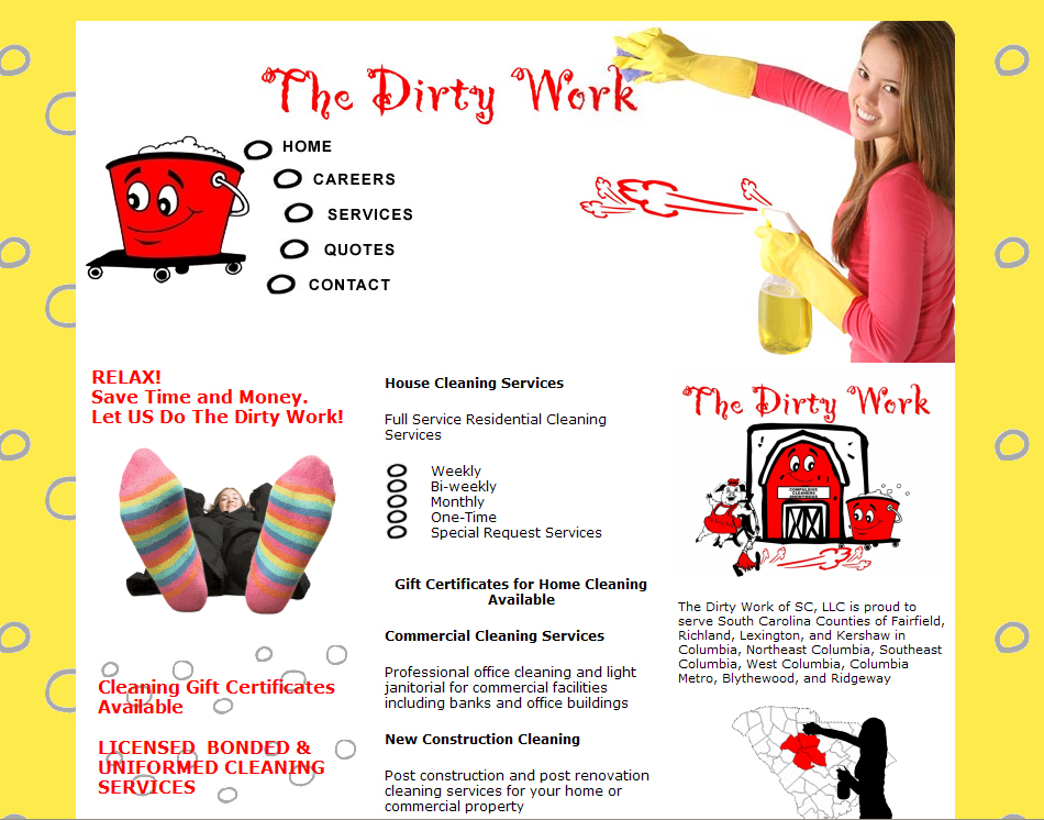 A  Page Website For Your Cleaning Company