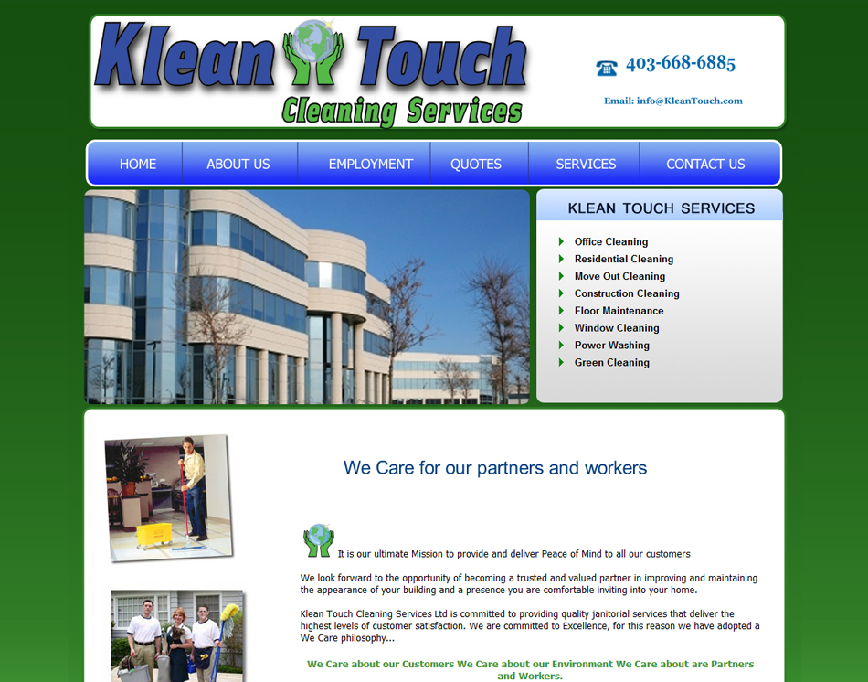 Website Designing Portfolio- Residential & Commercial Cleaning ...