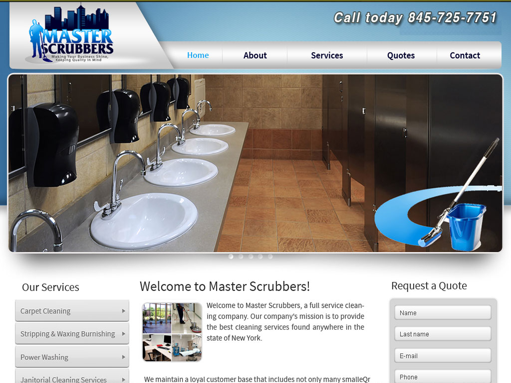 master scrubbers cleaning company website thumbnail graphic image