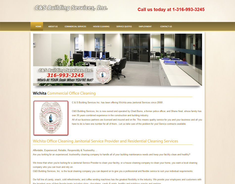 thumbnail image of mobile friendly web site design C&S Building Services