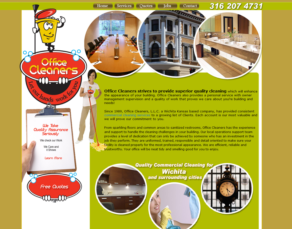 Cleaning Company Website Janitorial Web Site Designing Portfolio