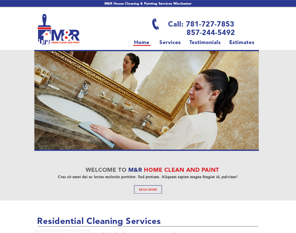 website image M&R professional website redesign thumbnail