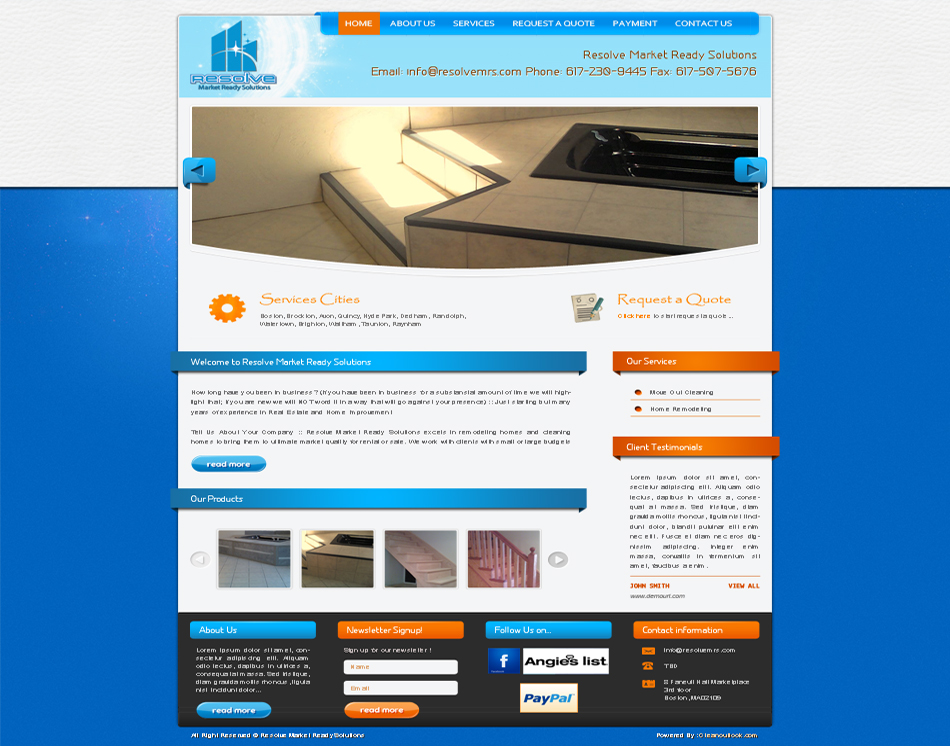 thumbnail image Resolve Market Ready Solutions Company Web site Design