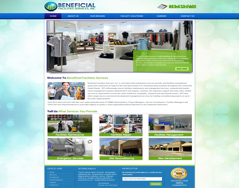 Benefecial 5 page responsive web site design thumbnail image