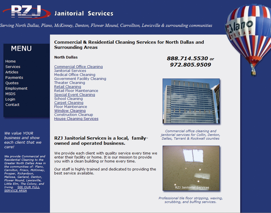Cleaning Company Website Designing Eight Designed Websites