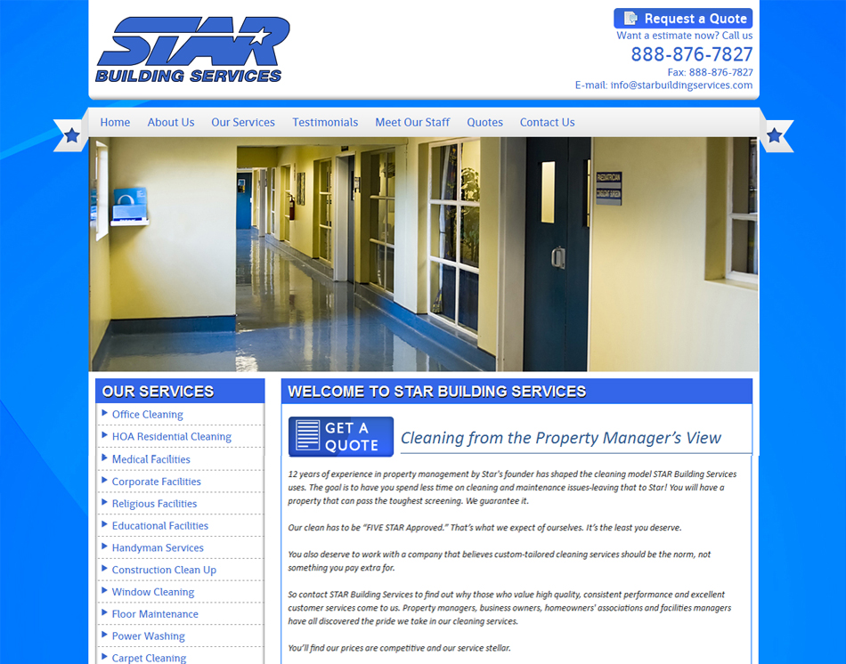 graphic image of star building services new jersey website desginers