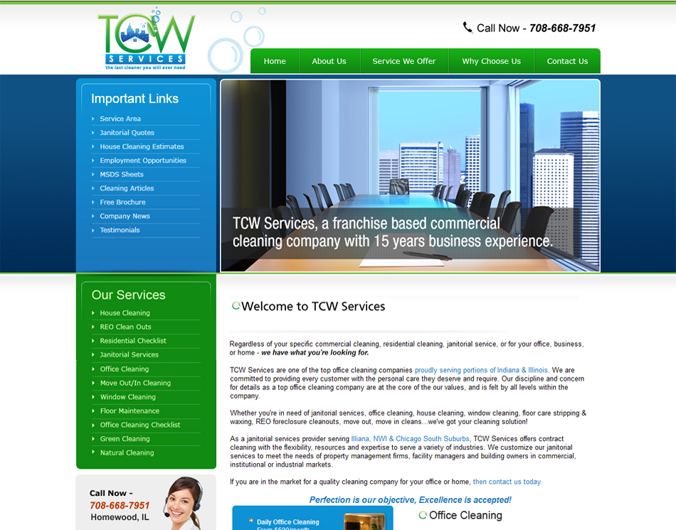 Web site Designers- Design 25 Page Web site for My Cleaning Company