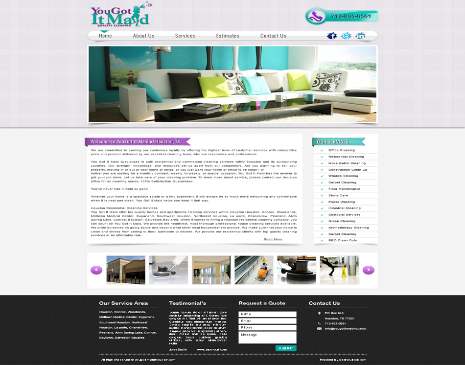 graphic image web design you got it maid company web site