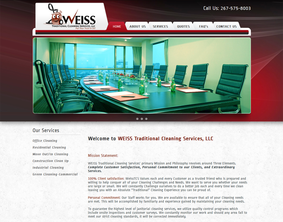 thumbnail image Weiss Traditional Cleaning Company Website Design