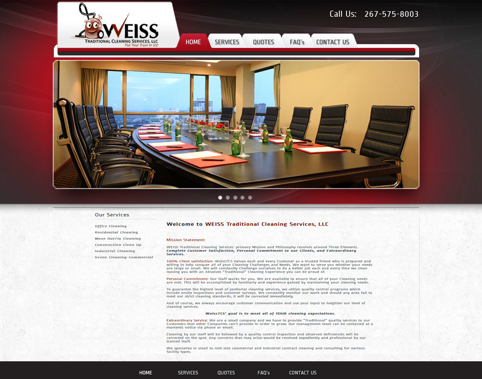 thumbnil image Weiss janitorial cleaning company website design
