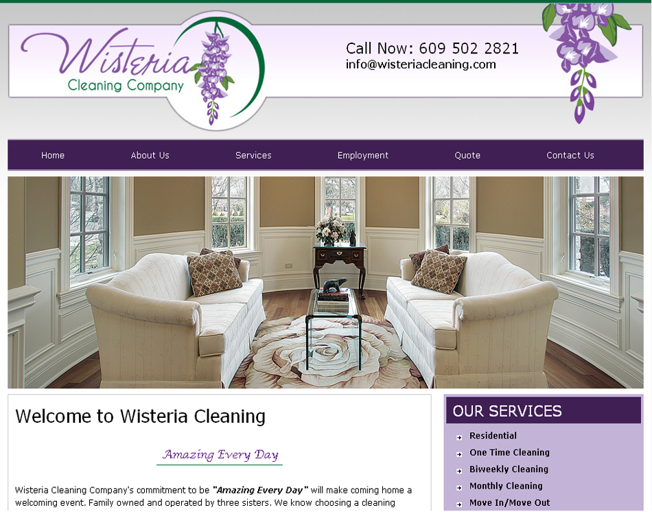 web design company name ideas company logo design wisteria house cleaning company website graphic image - Web Design Company Name Ideas